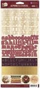 A Victorian Christmas Alphabet Stickers - Prima