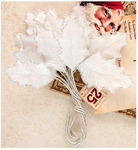 Snowflake Velvet Mulberry Paper Leaves - A Victorian Christmas - Prima