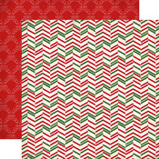 Christmas Herringbone Paper - Have A Merry Christmas - Carta Bella