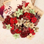 Rudolph's Nose Mulberry Paper Flowers - A Victorian Christmas - Prima
