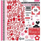 "Treasures & Text - Valentina Stickers 12""X12"""
