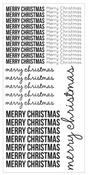 Merry Christmas Clear Sticker Sheet - KaiserCraft