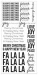 Seasons Greetings Clear Sticker Sheet - KaiserCraft