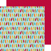 Fall Feathers Paper - Fall Friends - Doodlebug