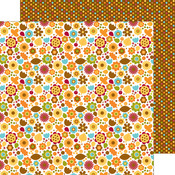 Fall Floral Paper - Fall Friends - Doodlebug