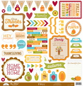 Fall Friends This & That Sticker Sheet - Doodlebug