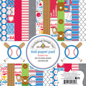 Home Run 6 x 6 Paper Pad - Doodlebug