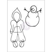 Snow Suit Set Mixed Media Cling Rubber Stamps - Julie Nutting - Prima