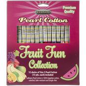 Fruit Fun - Sullivans Size 5 Pearl Cotton Pack 15yd 12/Pkg