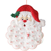 "14.5""X18"" - Santa's Beard Advent Calendar Felt Applique Kit"