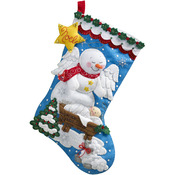 "18"" Long - Snow Angel Stocking Felt Applique Kit"