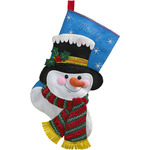 "18"" Long - Jack Frost Stocking Felt Applique Kit"