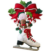Holiday Skate Wall Hanging Felt Applique Kit