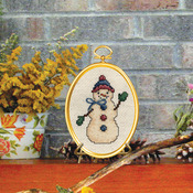 "3""X4"" 14 Count - Friendly Snowman Mini Counted Cross Stitch Kit"