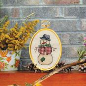 """3""""X4"""" 14 Count - Dapper Snowman Mini Counted Cross Stitch Kit"""