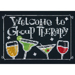 """7""""X5"""" 14 Count - Group Therapy Mini Counted Cross Stitch Kit"""