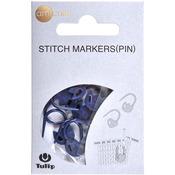 Tulip/Navy - Tulip Stitch Markers 7/Pkg