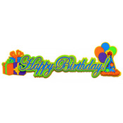 Happy Birthday Blue - Paper Wizard Die-Cut