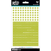 Mini/Olive You Lime Green - Genesis Alphabet Stickers