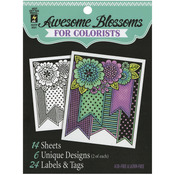 """Awesome Blossoms - Hot Off The Press Colorist Coloring Book 5""""X6"""""""
