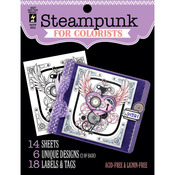 "Steampunk - Hot Off The Press Colorist Coloring Book 5""X6"""