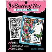 "Butterflies - Hot Off The Press Colorist Coloring Book 5""X6"""