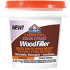 White - Elmer's Color Change Wood Filler 4oz Elmers X Acto-Elmers Color Change Wood Filler. Ideal for paper, cloth, crafts and more! This package contains one 4 oz bottle of wood filler. WARNING: Choking Hazard-small parts. Not for children under 3 years. Made in USA.