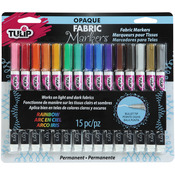 Assorted - Tulip Opaque Fabric Markers 15/Pkg