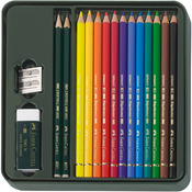 Mixed Media - Polychromos Colored Pencil Set In Metal Tin 16pc