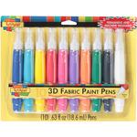 Assorted - Scribbles 3D Fabric Paint Pens 10/Pkg