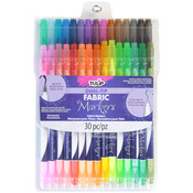 Assorted - Tulip Dual Tip Fabric Markers 30/Pkg