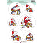 "Jolly Christmas - Sugar Nellie Topper Sheet 8.5""X12.2"""