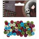 Santoro Tweed Mixed Buttons 100/Pkg