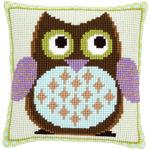 "15.75""X15.75"" - Mister Owl Cushion Cross Stitch Kit"