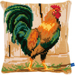 "15.75""X15.75"" - Rooster Cushion Cross Stitch Kit"