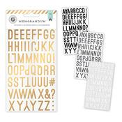 Memorandum Gold Foiled Alpha Stickers - Pink Paislee