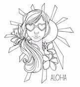 Goldie Cling Rubber Stamp - Bloom - Prima
