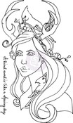 Peyton Cling Rubber Stamp - Bloom - Prima