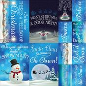 Christmas Town Cardstock Poster Stickers - Reminisce