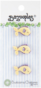 Yellow Fish - BaZooples Buttons