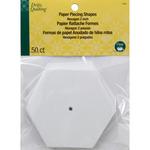"""2"""" 50/Pkg - Dritz Quilting Paper Piecing Hexagon"""