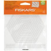 "Hexagons - Fiskars Paper Piercing Stencil 6""X6"""
