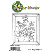"""Rose - Stacy Stamps Cling Mounted Stamps 3""""X3.5"""""""