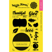 "Holiday Labels-Give Thanks - Waffle Flower Crafts Clear Stamps 4""X6"""