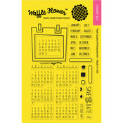 "Calendar - Waffle Flower Crafts Clear Stamps 4""X6"""