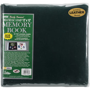"Hunter Green - Deluxe Bonded Leather Scrapbook 12""X12"""