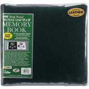"Hunter Green - Deluxe Bonded Leather Scrapbook 12""X12"""