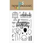 "Birthday Bash - Paper Smooches 4""X6"" Clear Stamps"