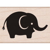 "Baby Elephant - Hero Arts Mounted Rubber Stamps 1""X1"""