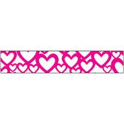 """Pink Heart - Glitter Ribbon .625""""X3yd"""